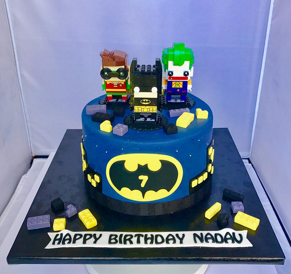 birthday cake batman lego chefness bakery