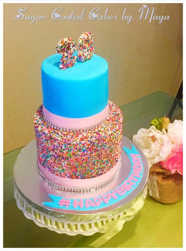 colorful cake happy birthday custom cake chefness bakery