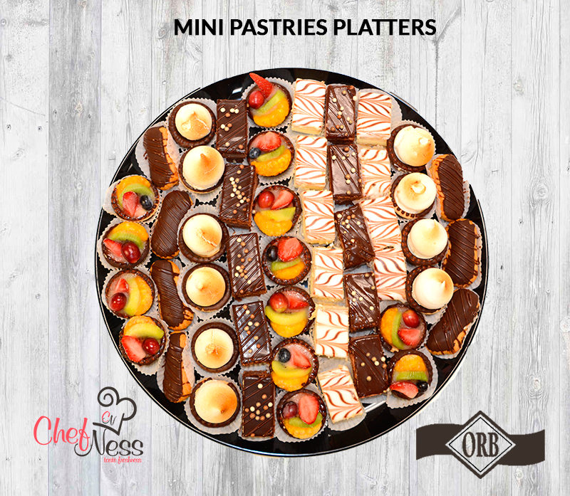 mini pastries platters chefness bakery