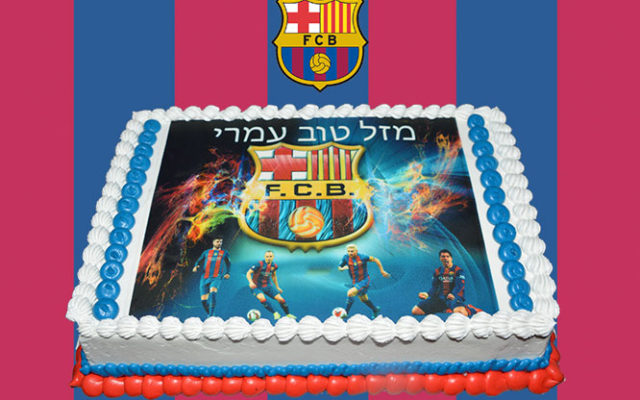 Barcelona FC Photo Cake Chefness Bakery