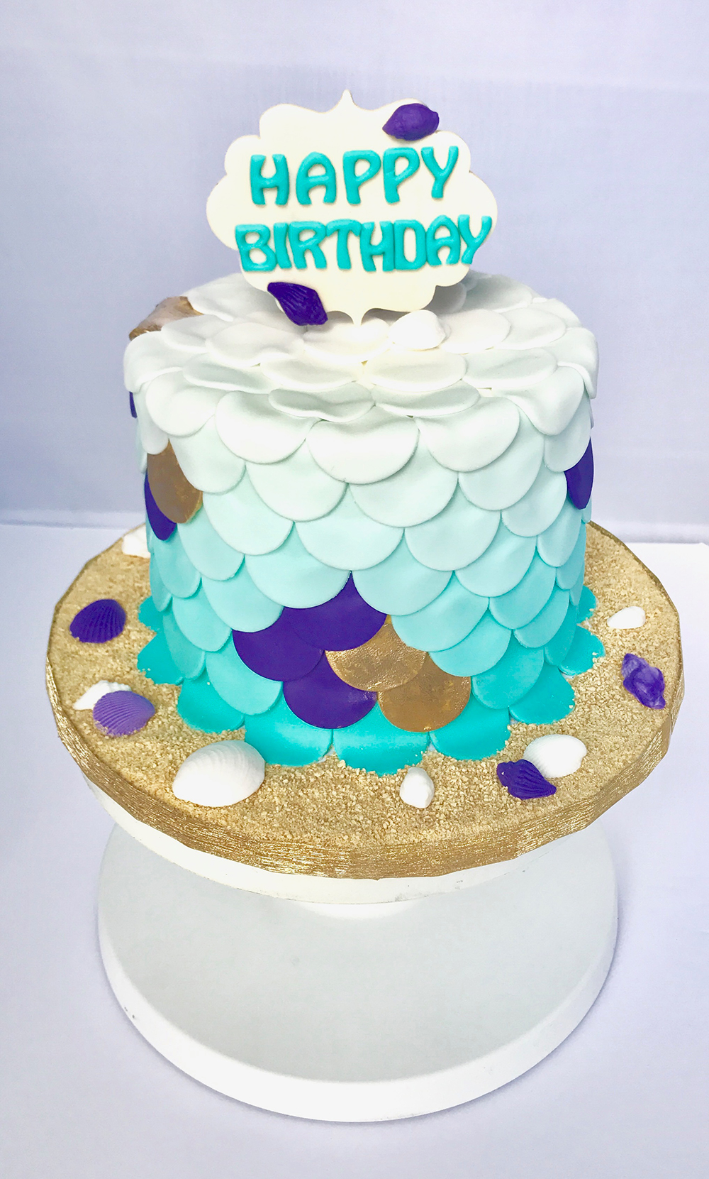 Custom Birthday Cake 3 Floor Chefnessbakery