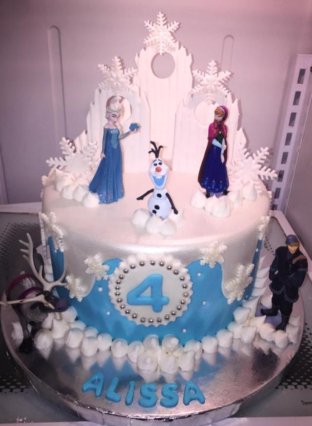 custom cake frozen happy birthday chefness bakery kosher food