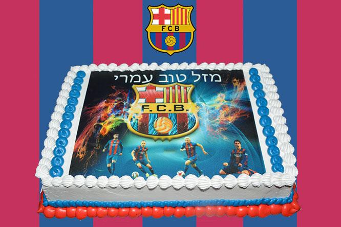 Barcelona FC Photo Cake Chefness Bakery