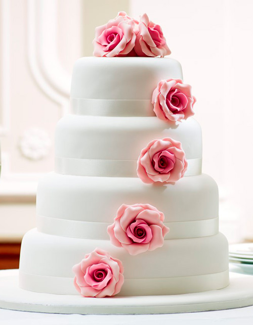 pink-rose-cascade-wedding-cake-chefness-bakery