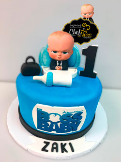 Fine Boss Baby Kosher Custom Cake Chefnessbakery Personalised Birthday Cards Arneslily Jamesorg